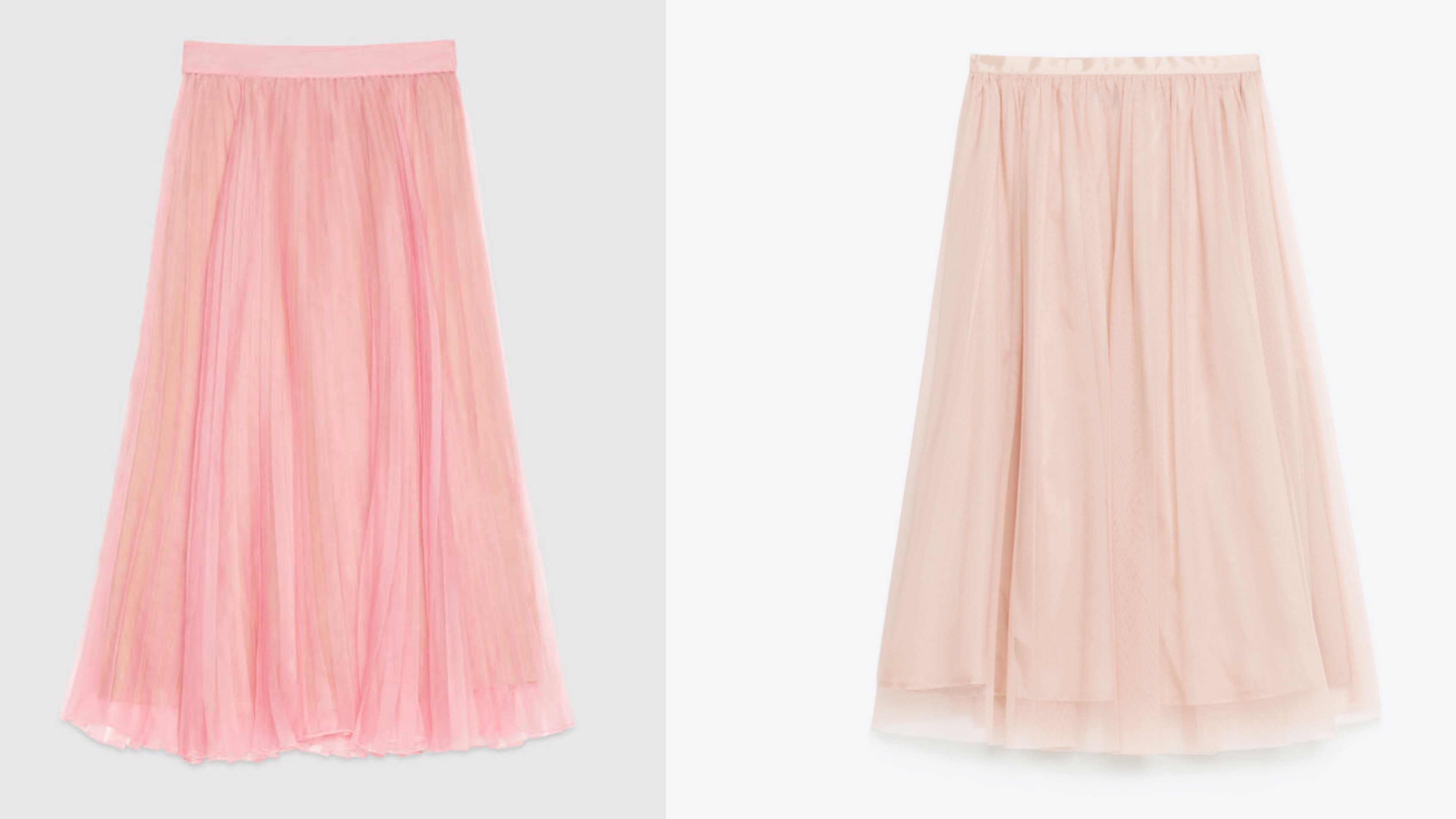 Gucci and Zara Pink Tulle Skirts