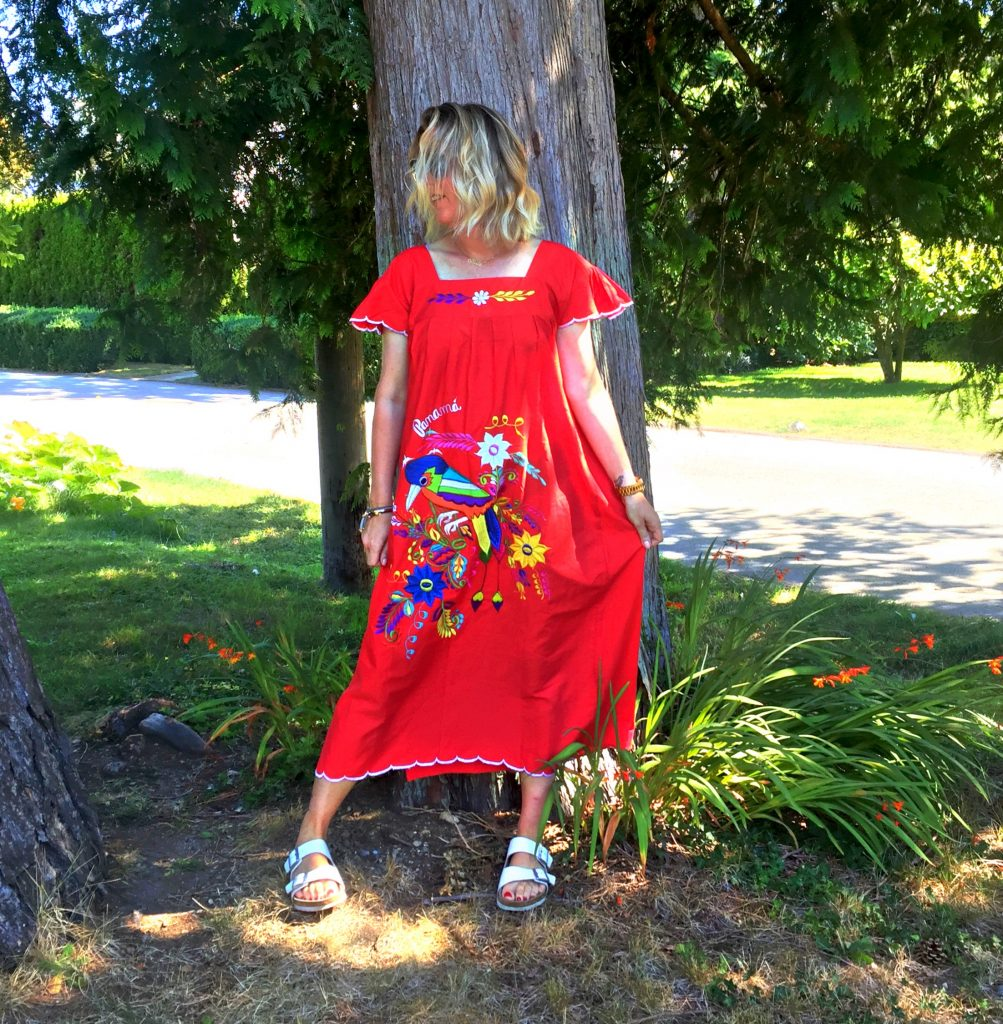 Red mumu dress