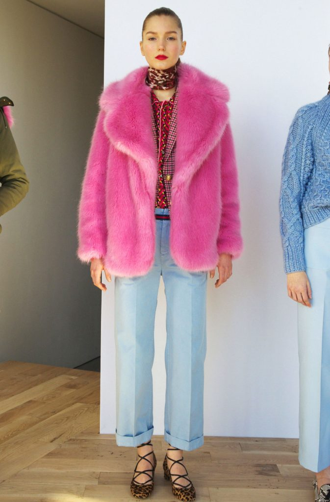 The Changing Of The Seasons - JCrew - Pink Faux Fur