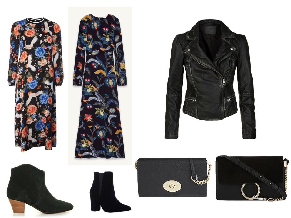 fashion-week-dress-1-dicker boots - leather jacket - chloe feye bag