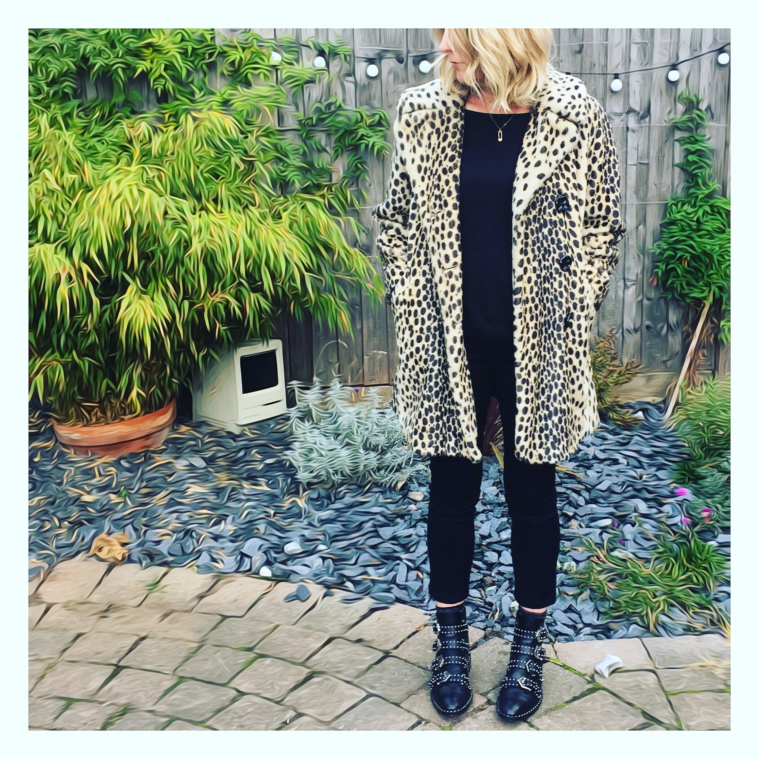 leopard prints coat