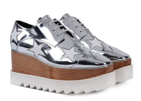 Stella McCartney Silver Elyse shoes