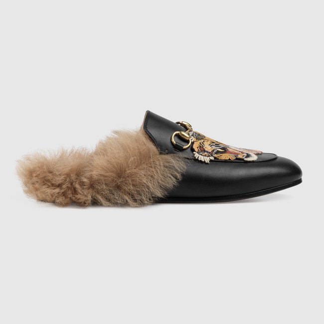 gucci princetown fur lined loafer