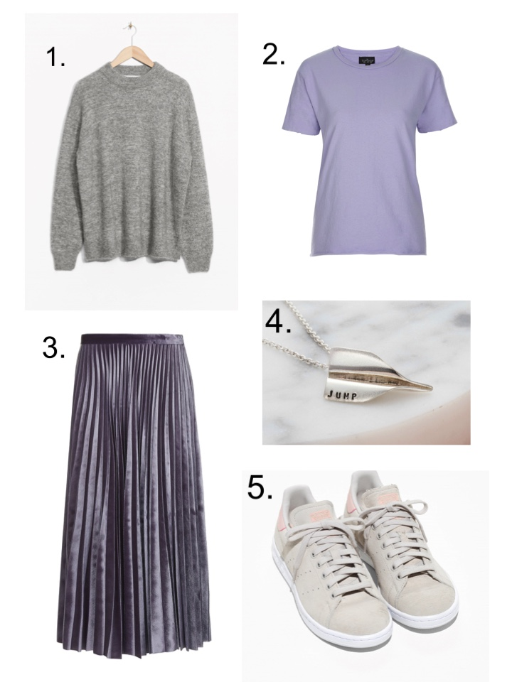 topshop velvet pleat skirt, posh totty airplane necklace