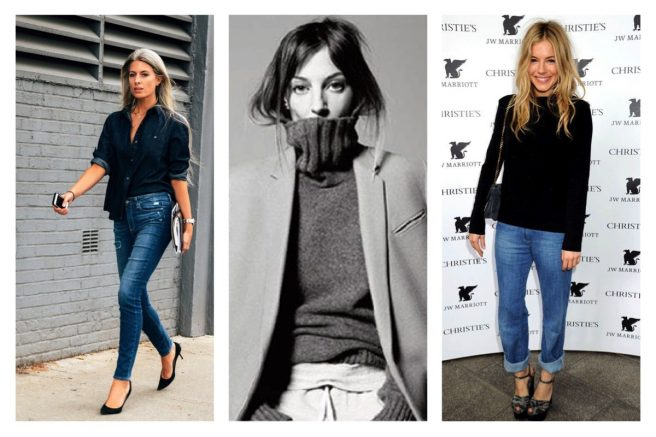 style icons Sienna Miller, Phoebe Philo, Sarah Harris