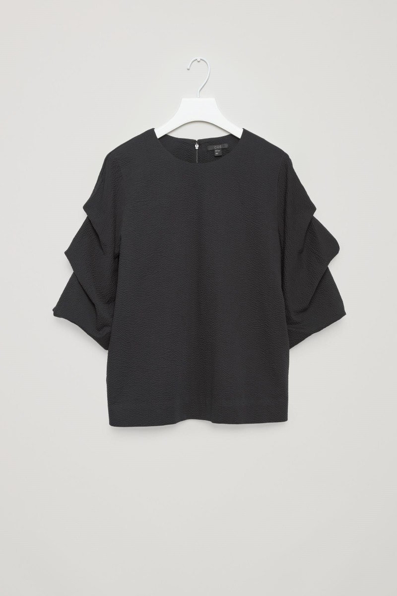 COS black Ruffle sleeve top bought this week
