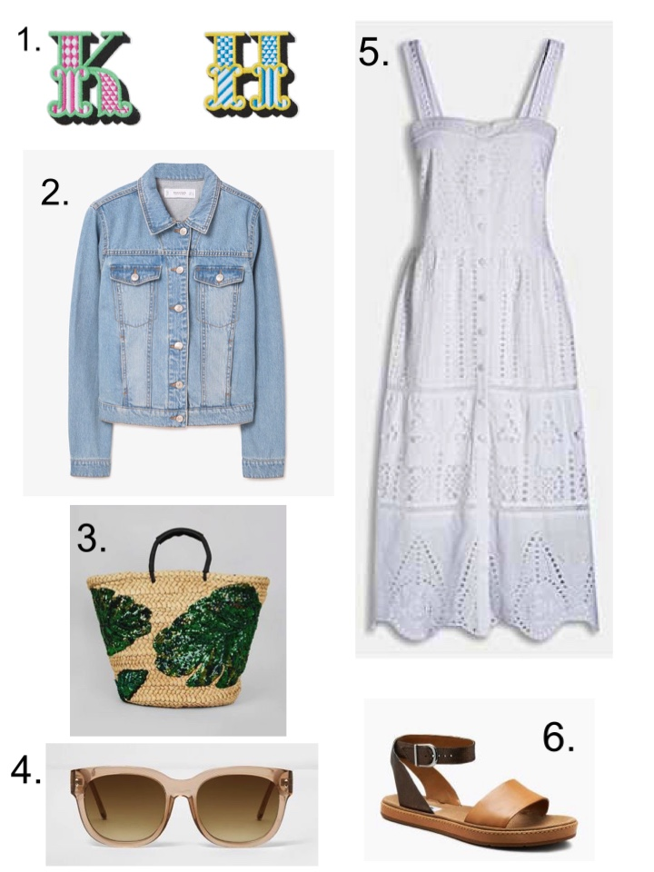 Denim Jacket and Broderie White Midi Dress