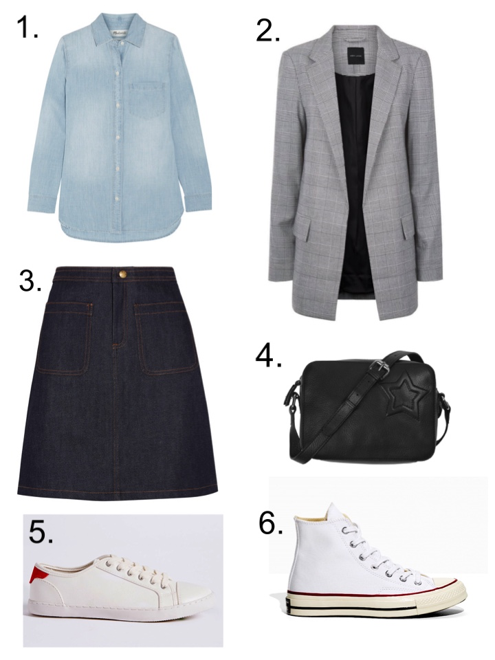 summer classics Denim Skirt