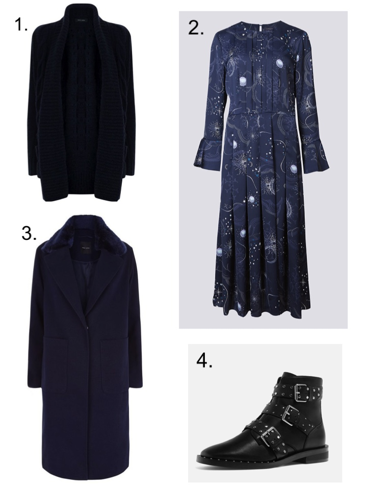 Chunky Knit Cardigan, Marks and Spencer Constellation Dress