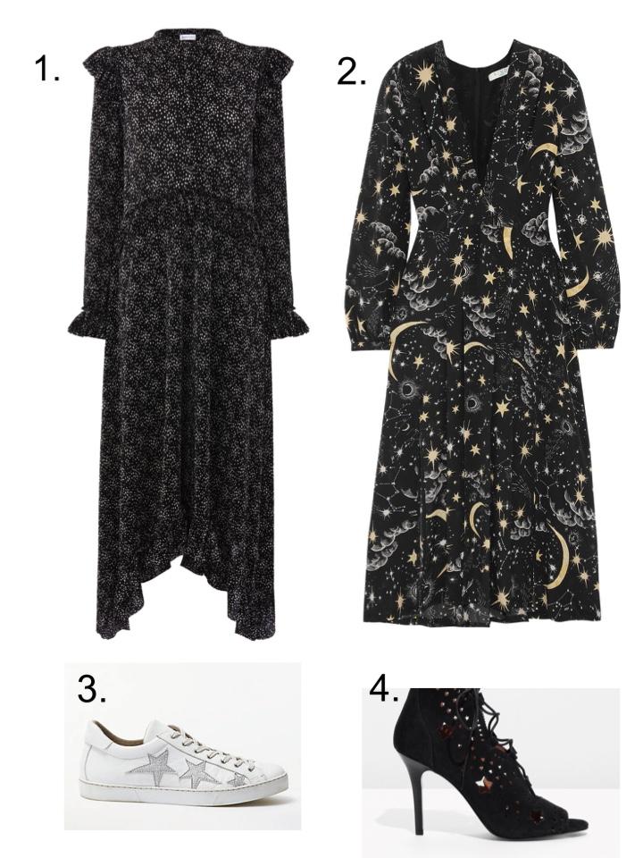 rixo star dress, warehouse star dress