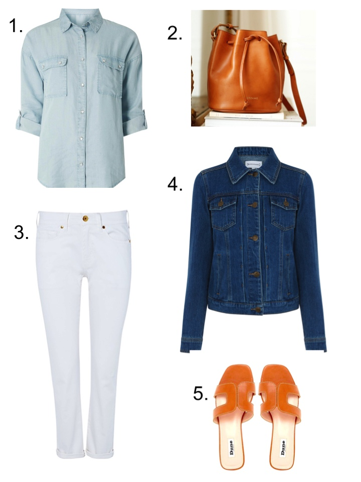 wearsmymoney white jeans triple denim