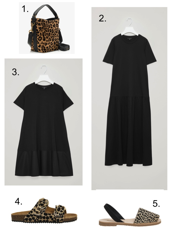 0cebabf5b173 To stop you looking too much like a Greek widow, add some leopard print  accessories… 1. J Crew Calf Hair ...