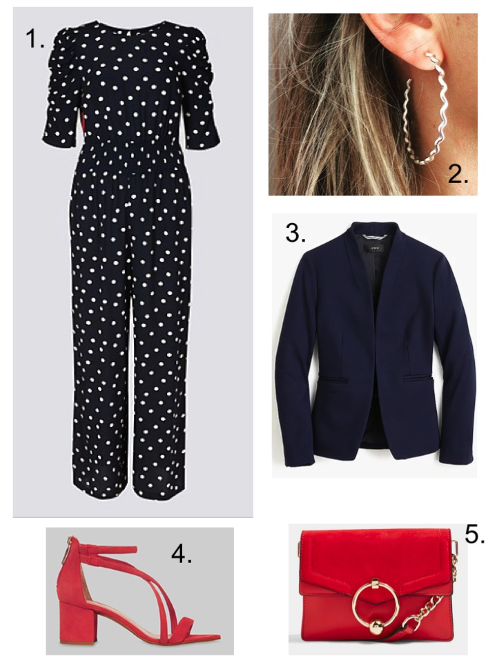 m&S Polka Dot Jumpsuit