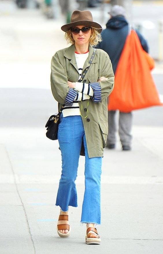 Khaki Jacket and Jeans