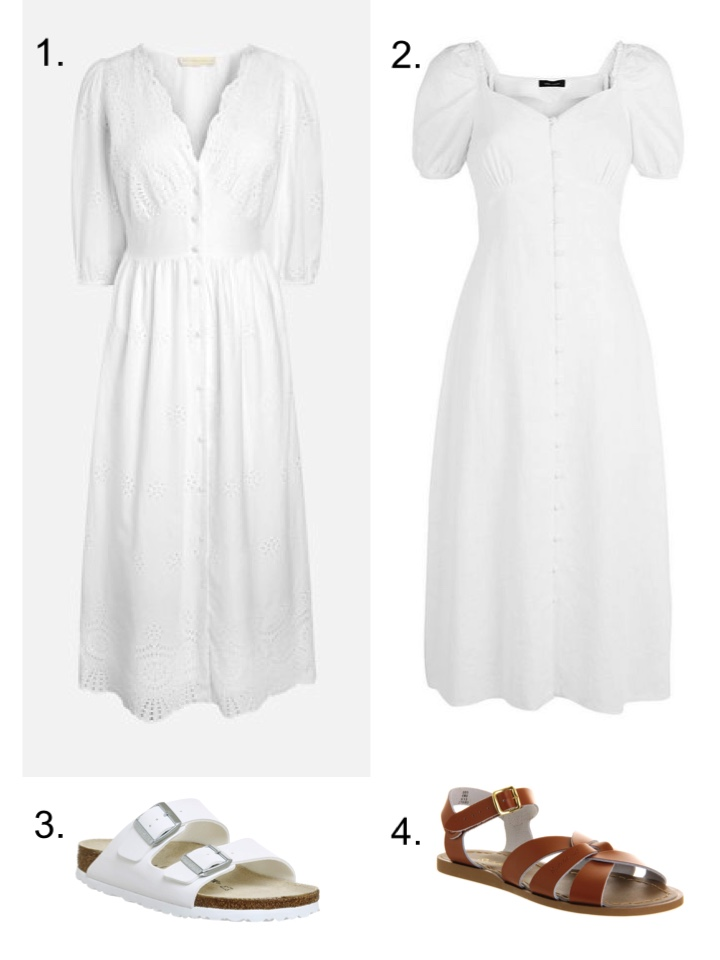 white midi dresses summer
