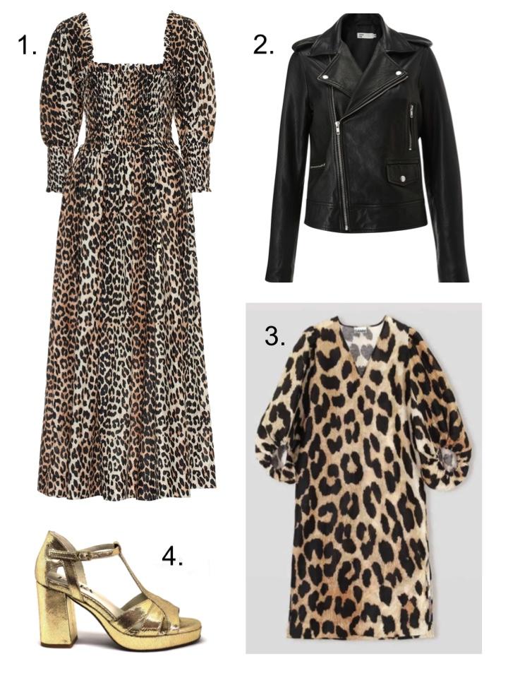 leopard print Ganni dress